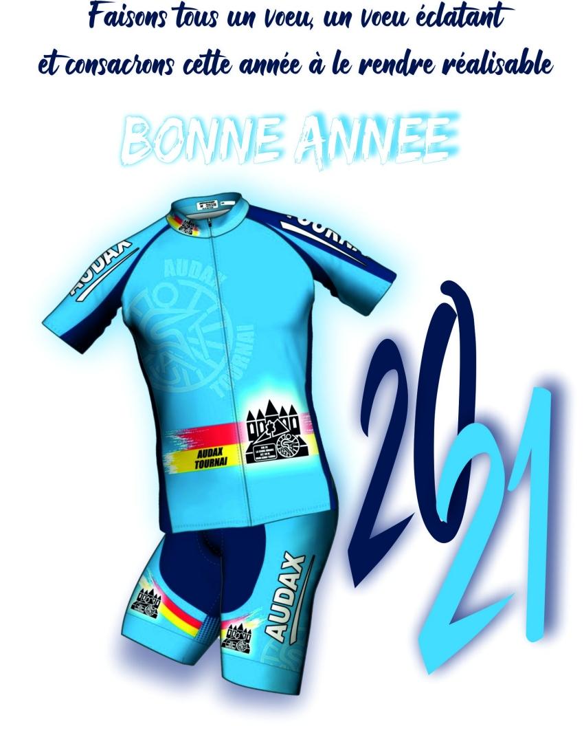 Les Audax Tournai, vœux 2021.